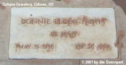 PRUITT, DONNIE ELDEN - Dolores County, Colorado | DONNIE ELDEN PRUITT - Colorado Gravestone Photos