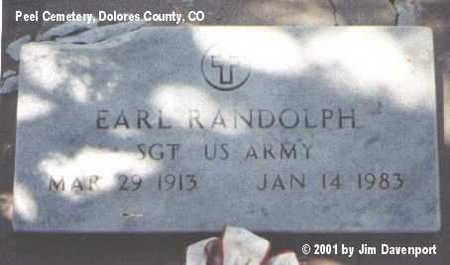 RANDOLPH, EARL - Dolores County, Colorado | EARL RANDOLPH - Colorado Gravestone Photos