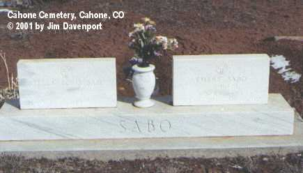 SABO, EMERY - Dolores County, Colorado | EMERY SABO - Colorado Gravestone Photos