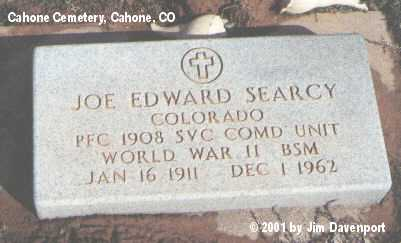 SEARCY, JOE EDWARD - Dolores County, Colorado | JOE EDWARD SEARCY - Colorado Gravestone Photos