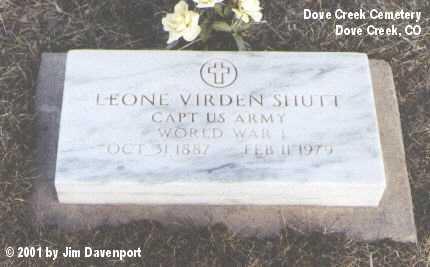 SHUTT, LEONE VIRDEN - Dolores County, Colorado | LEONE VIRDEN SHUTT - Colorado Gravestone Photos