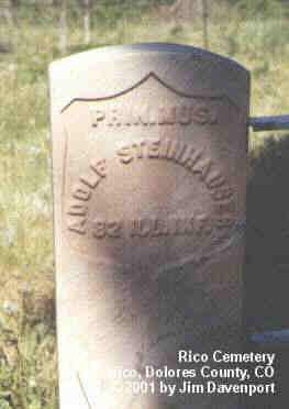 STEINHAUSER, ADOLF - Dolores County, Colorado | ADOLF STEINHAUSER - Colorado Gravestone Photos