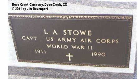 STOWE, L.A. - Dolores County, Colorado | L.A. STOWE - Colorado Gravestone Photos