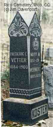 VETTER, FREDERIC E. - Dolores County, Colorado | FREDERIC E. VETTER - Colorado Gravestone Photos