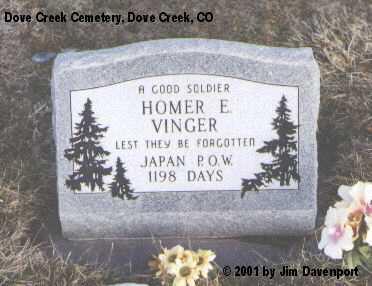 VINGER, HOMER V. - Dolores County, Colorado   HOMER V. VINGER - Colorado Gravestone Photos