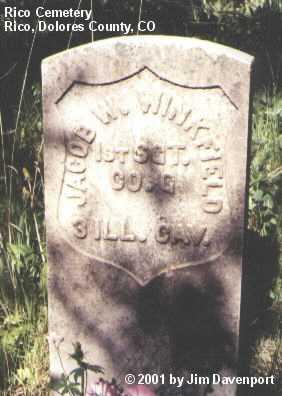 WINKFIELD, JACOB W. - Dolores County, Colorado | JACOB W. WINKFIELD - Colorado Gravestone Photos