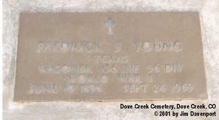 YOUNG, FREDRICK J. - Dolores County, Colorado | FREDRICK J. YOUNG - Colorado Gravestone Photos