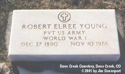 YOUNG, ROBERT ELREE - Dolores County, Colorado   ROBERT ELREE YOUNG - Colorado Gravestone Photos