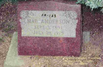 ANDERSON, MAE - Douglas County, Colorado | MAE ANDERSON - Colorado Gravestone Photos