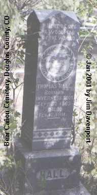 HALL, THOMAS - Douglas County, Colorado | THOMAS HALL - Colorado Gravestone Photos