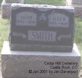 SMITH, JACOB - Douglas County, Colorado | JACOB SMITH - Colorado Gravestone Photos