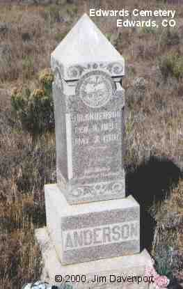 ANDERSON, J.R. - Eagle County, Colorado | J.R. ANDERSON - Colorado Gravestone Photos