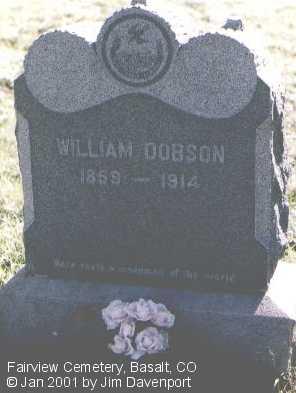 DOBSON, WILLIAM - Eagle County, Colorado | WILLIAM DOBSON - Colorado Gravestone Photos