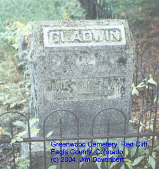 GLADWIN, HENRY W. - Eagle County, Colorado | HENRY W. GLADWIN - Colorado Gravestone Photos