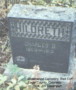 HILDRETH, CHARLES B. - Eagle County, Colorado   CHARLES B. HILDRETH - Colorado Gravestone Photos