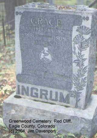 INGRUM, GRACE - Eagle County, Colorado | GRACE INGRUM - Colorado Gravestone Photos
