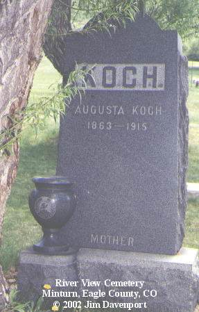 KOCH, AUGUSTA - Eagle County, Colorado | AUGUSTA KOCH - Colorado Gravestone Photos