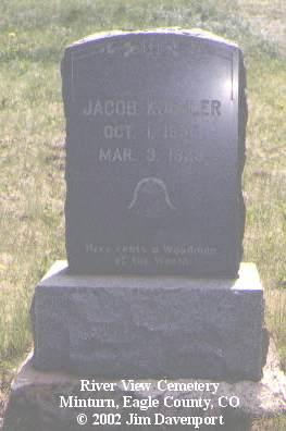 KOEHLER, JACOB - Eagle County, Colorado | JACOB KOEHLER - Colorado Gravestone Photos