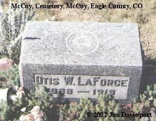 LAFORCE, OTIS W. - Eagle County, Colorado   OTIS W. LAFORCE - Colorado Gravestone Photos