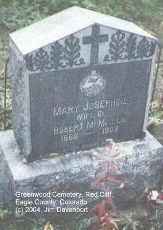 MCMILLEN, MARY JOSEPHINE - Eagle County, Colorado | MARY JOSEPHINE MCMILLEN - Colorado Gravestone Photos