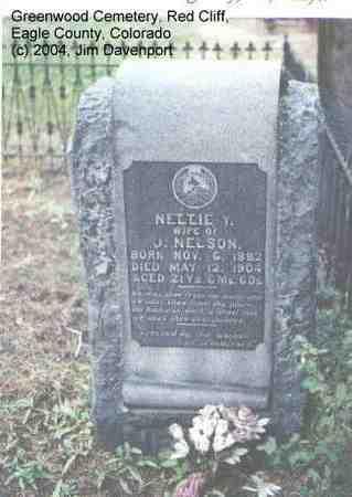 NELSON, NETTIE Y. - Eagle County, Colorado   NETTIE Y. NELSON - Colorado Gravestone Photos