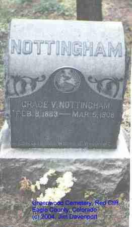 NOTTINGHAM, GRACE V. - Eagle County, Colorado | GRACE V. NOTTINGHAM - Colorado Gravestone Photos