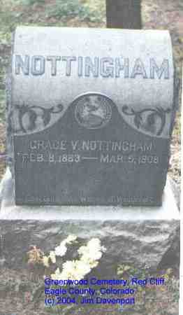 NOTTINGHAM, GRACE V. - Eagle County, Colorado | GRACE V. NOTTINGHAM - Colorado Gravestone Photos