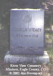 STEACY, FRANKLIN - Eagle County, Colorado | FRANKLIN STEACY - Colorado Gravestone Photos