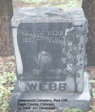 WEBB, WILLIAM - Eagle County, Colorado   WILLIAM WEBB - Colorado Gravestone Photos