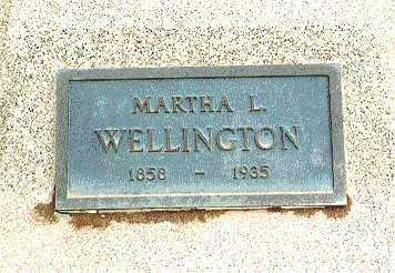 WELLINGTON, MARTHA - Eagle County, Colorado   MARTHA WELLINGTON - Colorado Gravestone Photos