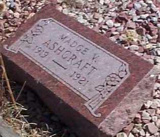 ASHCRAFT, MADGE V. - Elbert County, Colorado | MADGE V. ASHCRAFT - Colorado Gravestone Photos