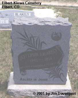 BLAKLEY, JEFFERSON D. - Elbert County, Colorado | JEFFERSON D. BLAKLEY - Colorado Gravestone Photos