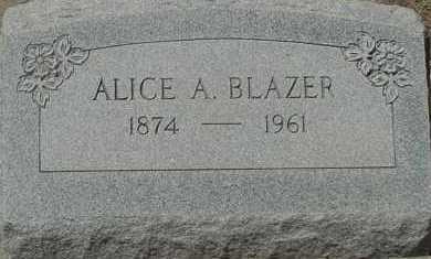 BLAZER, ALICE A. - Elbert County, Colorado   ALICE A. BLAZER - Colorado Gravestone Photos