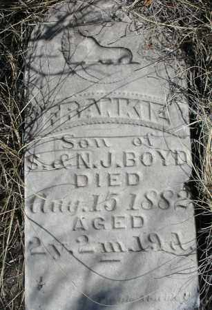 BOYD, FRANKIE - Elbert County, Colorado | FRANKIE BOYD - Colorado Gravestone Photos