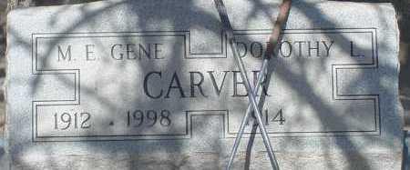 CARVER, M. E. GENE - Elbert County, Colorado   M. E. GENE CARVER - Colorado Gravestone Photos