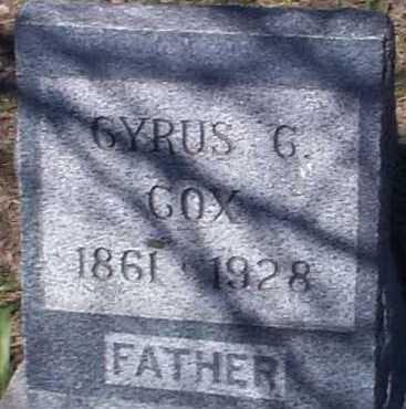 COX, CYRUS C. - Elbert County, Colorado | CYRUS C. COX - Colorado Gravestone Photos