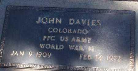 DAVIES, JOHN - Elbert County, Colorado | JOHN DAVIES - Colorado Gravestone Photos