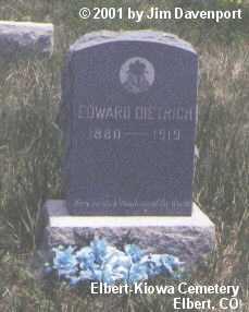 DIETRICH, EDWARD - Elbert County, Colorado | EDWARD DIETRICH - Colorado Gravestone Photos