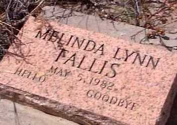FALLIS, MELINDA LYNN - Elbert County, Colorado | MELINDA LYNN FALLIS - Colorado Gravestone Photos