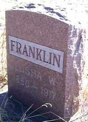 FRANKLIN, ELISHA W. - Elbert County, Colorado | ELISHA W. FRANKLIN - Colorado Gravestone Photos