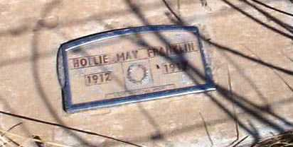 FRANKLIN, HOLLIE MAY - Elbert County, Colorado | HOLLIE MAY FRANKLIN - Colorado Gravestone Photos