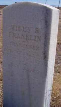 FRANKLIN, WILEY B. - Elbert County, Colorado | WILEY B. FRANKLIN - Colorado Gravestone Photos