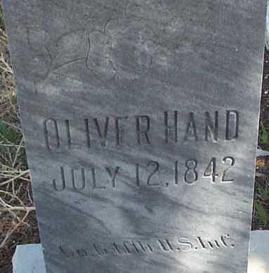 HAND, OLIVER - Elbert County, Colorado | OLIVER HAND - Colorado Gravestone Photos