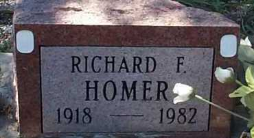 HOMER, RICHARD F. - Elbert County, Colorado | RICHARD F. HOMER - Colorado Gravestone Photos