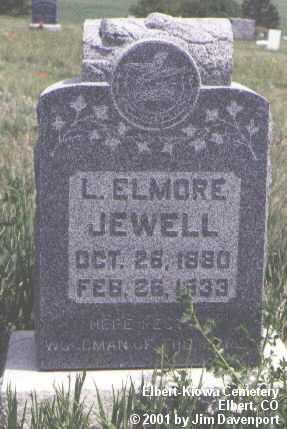 JEWELL, L. ELMORE - Elbert County, Colorado   L. ELMORE JEWELL - Colorado Gravestone Photos