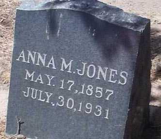 JONES, ANNA M. - Elbert County, Colorado | ANNA M. JONES - Colorado Gravestone Photos