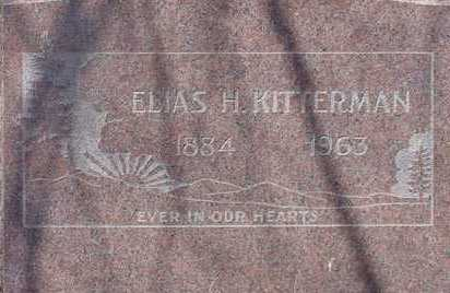 KITTERMAN, ELIAS H. - Elbert County, Colorado | ELIAS H. KITTERMAN - Colorado Gravestone Photos