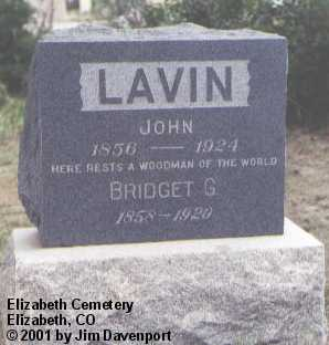 LAVIN, JOHN - Elbert County, Colorado | JOHN LAVIN - Colorado Gravestone Photos