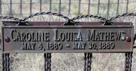 MATHEWS, CAROLINE LOUISA - Elbert County, Colorado | CAROLINE LOUISA MATHEWS - Colorado Gravestone Photos