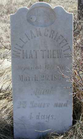 MATHEWS, WILLIAM GRIFFITH - Elbert County, Colorado | WILLIAM GRIFFITH MATHEWS - Colorado Gravestone Photos